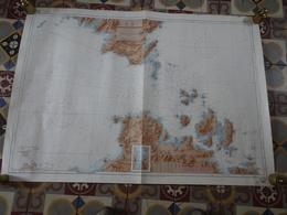 Carte Marine Papier Bouches De Bonifacio, Corse, Sardaigne, 1/50000ème, N° 7024, Edition De 1986, Très Bon état - Nautical Charts