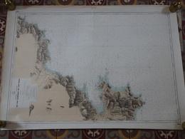 Carte Marine Papier Du Cap Camarat Au Cap Roux, 1/49930ème, N° 5337, SHOM, Edition N°3 De 1975, St Tropez, St Raphaël - Nautical Charts