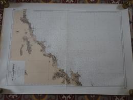 Carte Marine Papier Du Saint Tropez à Menton, 1/150000ème, N° 2682, SHOM, Edition N°4 De 1976, Monaco, Nice, Cannes, TBE - Cartes Marines
