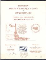 FRANCE - PORT- AVIATION - CINQUANTENAIRE DES PREMIERS VOLS D'AEROPLANE. 1909-1959. - Airmail