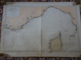 Carte Marine Papier De Marseille à L'île D'Elbe, 1/448700ème, N° 1865, N°6 De 1957, Ingénieurs Hydrographes De La Marine - Cartes Marines