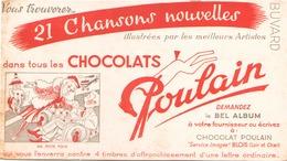 """Buvard  """" Poulain """" ( Pliures, Déchirures, Rousseurs ) 22 X 12.5 Cm - Cocoa & Chocolat"""