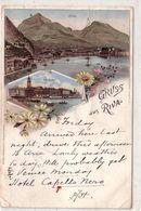 RIVA-TRIENT-TRENTO-LAGO DI GARDA-GRUSS AUS RIVA-LITHO MULTIVEDUTE-CARTOLINA VIAGGIATA IL 25-4-1896 - Trento