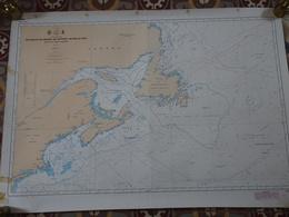 Carte Marine Papier Du Golfe Du Maine Au Détroit De Belle-Isle, Saint-Laurent, Canada, Terre Neuve, Edition N°2 De 1977 - Nautical Charts
