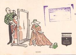 """Buvard  """" Boussac Tissus ( Pliures, Rousseurs ) 16 X 12 Cm - Buvards, Protège-cahiers Illustrés"""