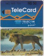 221/ Namibia; P7. Lion, Crossed 0 - Namibia