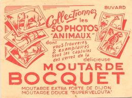"""Buvard  """" Moutarde Bocquet """" ( Pliures, Rousseurs, Déchirures  ) 16 X 12,5 Cm - Mostard"""