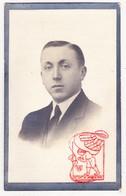 DP Foto - Robert G. Parmentier / D'Hondt 24j. ° Roeselare BE 1897 † Saint-Omer-Capelle FR Pas-de-Calais 1922 - Devotieprenten