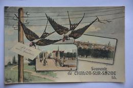 Souvenir De CHALON-sur-SAONE-multi Vues - Chalon Sur Saone