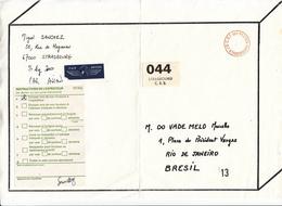 Paquet PAR AVION Affr Fictifs CRF DES POSTES De STRASBOURG Adressé à Rio De Janeiro - Phantomausgaben