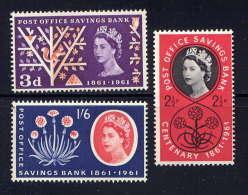 GRANDE BRETAGNE - 359/361** - CENTENAIRE DE LA CAISSE D'EPARGNE POSTALE - 1952-.... (Elizabeth II)