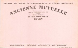 """Buvard """" Ancienne Mutuelle Rouen """" ( Pliures, Rousseurs ) 21 X 13,5 Cm - Blotters"""