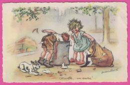 ILLUSTRATEUR  GERMAINE BOURRET - Serie 615  - Chouette  , Un Sucre .. - Bouret, Germaine