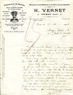 46.LOT.TOIRAC.TEINTURERIE DE PAILLES.MANUFACTURE DE PAILLES DU QUERCY.H.VERNET. - Unclassified