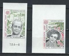 KZ--169-. DALLAY -  MONACO - EUROPA 80, N° 1260/61b ,  ND, COIN & BORD De FEUILLE ,  * * , Cote 80.00 € , TTB - Europa-CEPT
