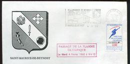 St Maurice De Beynost - Passage De La Flamme Olympique Fevrier 1992    3 - 0731 - Ciclismo