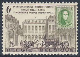 Belgie Belgique Belgium 1963 Mi 1310 YT 1250 Sc 592 * MH - Cent. Paris Postal Conference / 1. Int. Postkonferenz - Post