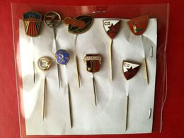 Lotto Di 9 Pin's/spillette Vintage - P615 - Badges