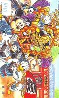 Télécarte Japon DISNEY / 110-159191 - Série Voyage 9/16 - Mickey Canard Donald In TOKYO (6183) Palanquin Japan Phonecard - Disney