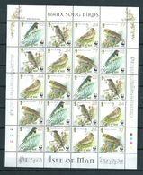 2000 Isle Of Man Complete M/Sheet Birds,oiseaux,WWF,vogels,vögel MNH/Postfris/Neuf Sans Charniere - Collections, Lots & Series
