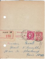 Carte Lettre Recommandée, 1941 - Marcofilie (Brieven)
