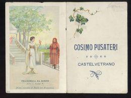 """RARO CALENDARIETTO 1904 - CASTELVETRANO - CON SCENA DELL'OPERA """" FRANCESCA DA RIMINI"""" - Formato Piccolo : 1901-20"""