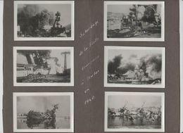 6 Photos Sabordage De La Flotte Francaise à Toulon 1942 - Boats