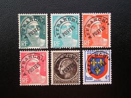 Préo  91-94-101-103a-104-105  Lot De 6 Timbres Sans Gomme - Préoblitérés