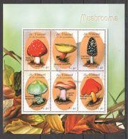 M701 ST.VINCENT NATURE FLORA MUSHROOMS 1KB MNH - Mushrooms