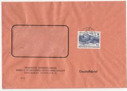 Vereinigte Oesterreichische Esien- U. Stahlwerke Company Letter Cover B180220 - 1961-70 Covers