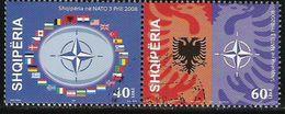 """2008 Albanien  Mi. 3244-5  Used  """" NATO-Beitritt """" - Europäischer Gedanke"""