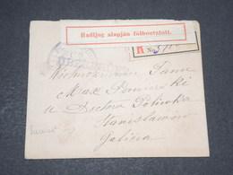 HONGRIE - Enveloppe En Recommandé Pour Bucarest Avec Contrôle Postal - 14074 - Hongrie