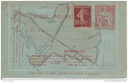 Entier Carte Lettre Pneumatique De Marseille - Entiers Postaux