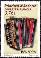 CEPT / Europa 2014 Andorre Espagnol N° 406 ** Instruments De Musique - Accordéon - Europa-CEPT