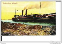 CANAL DE SUEZ EGYPTE DEVERSOIR BATEAU DE COMMERCE - Comercio