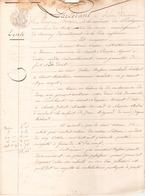 ACTE NOTARIE VENTE DU 24 FEVRIER 1850 A GUERANDE - Manuscripts