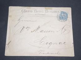HONGRIE  - Enveloppe D 'Hôtel De Budapest Pour La France En 1897 - 14081 - Hongrie