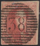 N°12 Quasi-margé, Obl Concours P38 (Enghien). Superbe - 1858-1862 Medallions (9/12)