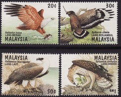Malaysia 1996 S#582-585 Birds Of Prey MNH Fauna Eagle - Malasia (1964-...)