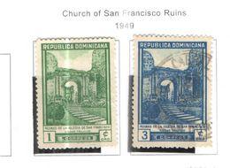Rep.Dominicana PO 1949 Chiesa S.Francesco Rovine  Scott.430+431+Used See Scans On Scott.Pages - Repubblica Domenicana