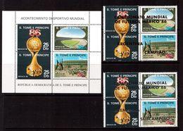 San Tome-1988,(Mi.1028-1035,Bl.166),  Football, Soccer, Fussball,calcio,MNH - World Cup