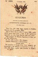 1860  DECRETO - Decreti & Leggi