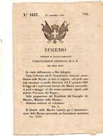 1860  DECRETO . IL LITORALE DELLE MARCHE FORMERÀ PER L'AMMINISTRAZIONE DELLA  MARINA UN CIRCONDARIO MARITTIMO - Decreti & Leggi