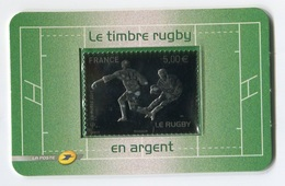RC 7325 FRANCE N° 197 RUGBY 5€ ARGENT AUTOADHÉSIF NEUF ** - Francia