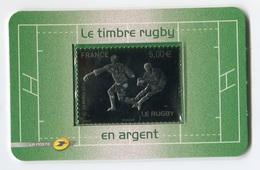 RC 7325 FRANCE N° 197 RUGBY 5€ ARGENT AUTOADHÉSIF NEUF ** - France