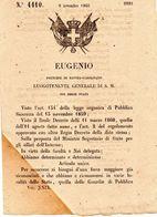 1860  DECRETO . - Decreti & Leggi
