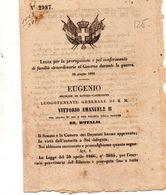 1866  DECRETO .CONFERIMENTO DI FACOLTÀ STRAORDINARIA AL GOVERNO DURANTE LA GUERRA - Decreti & Leggi