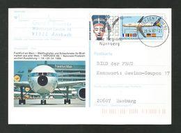 BRD 1988  Mi.Nr. 1367, EUROPA CEPT -Transport- Und Kommunikationsmittel-Ganzsache - S Stempel Frankfurt Am Main - Europa-CEPT
