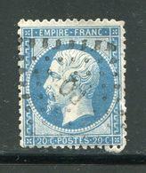 Y&T N°22  Ambulant P Q - 1862 Napoléon III
