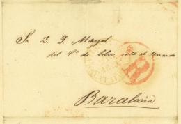 Vilanova I La Geltrú Catalunya Barcelona 1843 V. De Pina Y Comp. - Documenti Storici